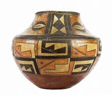 Antique Pottery : Antique Acoma Geometric Polychrome Olla #42