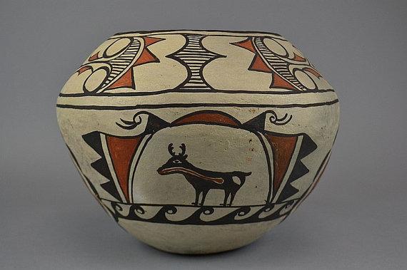 Pueblo Pottery, A Zuni Pottery Olla, by Nellie Bica, Ca. 1930, #765