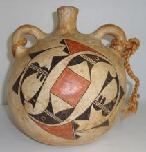 Historic Acoma Pottery Canteen in Very Good Condition, Ca, 1930-1940's #764