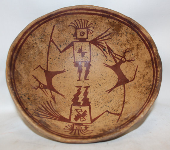 Pedestal Bowl : Excellent Pre-Columbian Narino Pedestal Pottery Bowl from Columbia #381