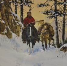 Western Artwork : Ron Stewart, Western Water Color Painting,