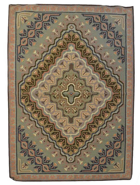 Navajo Rug Weaving Exceptional Hand Made Wool Multicolored