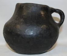 Antique Pottery : Very Good Pre-Columbian Mapuche Pottery Pitcher From the Teno Area of Ecuador #374