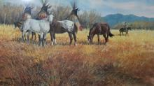 Country Painting : Ron Stewart, Ron Stewart Artist, Western Artists, Water Color, Signed,