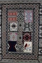 Navajo Pictorial Rug, Native American Rug, Wool Navajo Rugs, Navajo Weaving, Handwoven Navajo Textiles, Sarah Paul Begay, #596