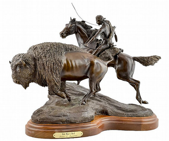 Western Artist, James Regimbal, (1949), Limited Edition Bronze Sculpture,