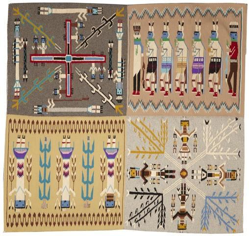 Navajo Yei Pictorial Rug, Native American Rug, Wool Navajo Rugs, Navajo Weaving, Southwestern Rug, Handwoven Navajo Textiles, Woven Rug, 599