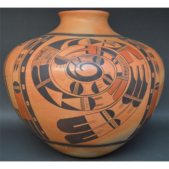 Hopi Jar, Native American, Pueblo Pottery, Southwestern Clay Pot, Polychrome Pot, Native Pot, Native American Hopi Pot, Polychrome Jar,#662