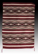 Native American Navajo Hand Woven Wool Rug, Ca 20th, #966
