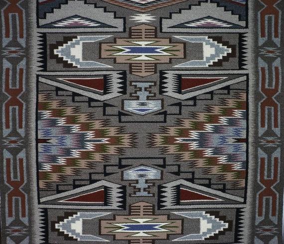 Native American, Navajo Teec Nos Pos Textile/Rug, Ca 1970's, #958