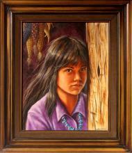 """Western Art, """"Corn Girl"""