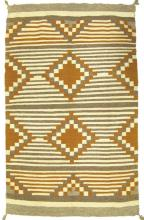 Native American, Beautiful Navajo Chief's Style Weaving/Blanket in Earth Tones, Ca 1950's, #970