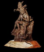 Western Bronze Sculpture, by Renowned Western Artist, Jeff Wolf, Entitled