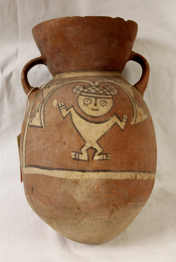 Rare Pre Colombian Ichma *** (Chancay/Chimu ) like pottery Container Curiosity #8, from Peru, 1100-1440 AD, #951