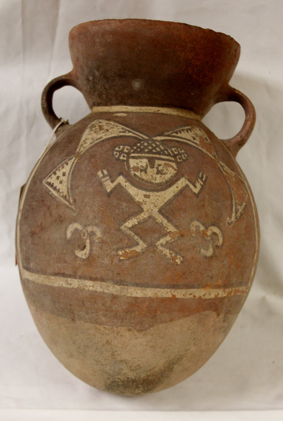 Rare Pre Colombian Ichma***,Chancay/Chimu Like Pottery Storage Container, Curiosity #7 , Ca 1000-1400 CA #950