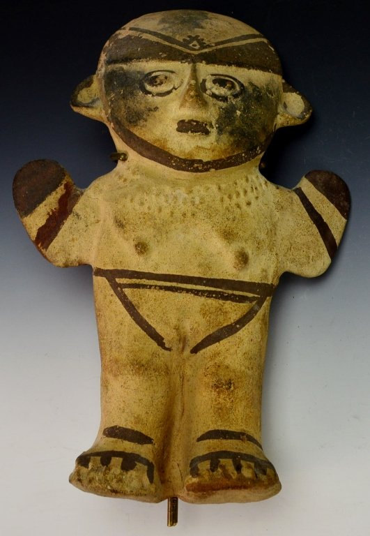 Pre Colombian Chancay Female Modeled Hollow Figure: Ex Sotheby*s, #949