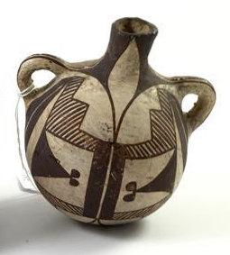 Historic Native American Acoma Pottery Canteen, Ca 1920's, #947