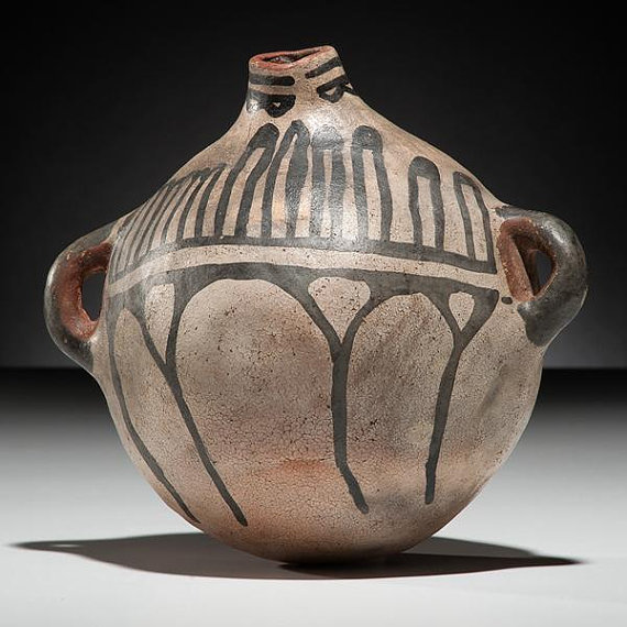 Historic Cochiti Pottery Canteen, #945