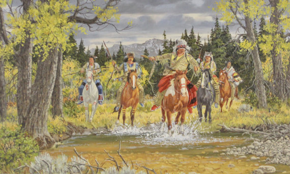 Western Artist, Ron Stewart, *Cry Vengence*, Water Color Painting, #759