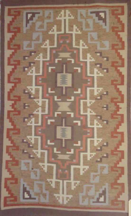 Native American Hand Woven Navajo Rug/Weaving, Circa 1980-90, #846