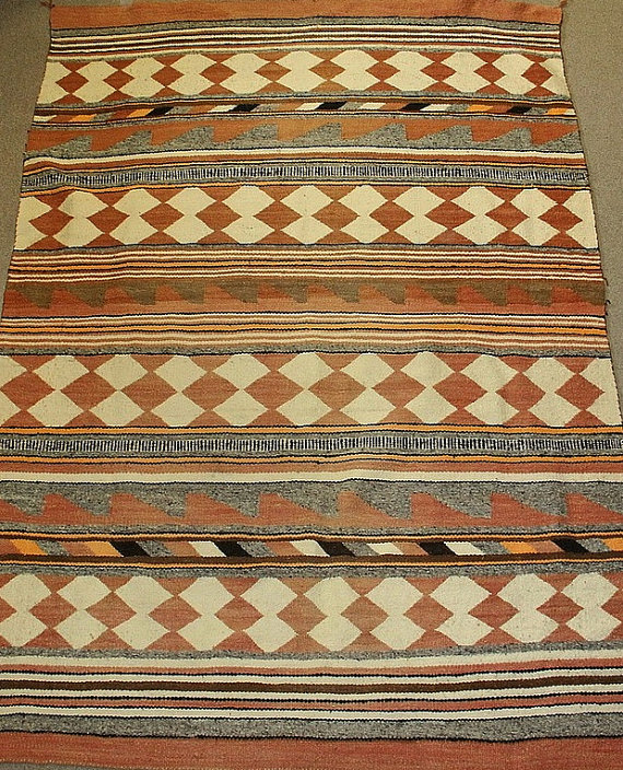 Historic Native American Navajo Crystal Rug/Weaving, Ca 1920's, #809