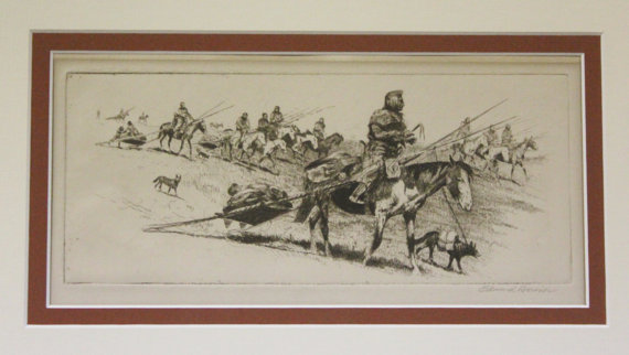 Edward Borein Etching,