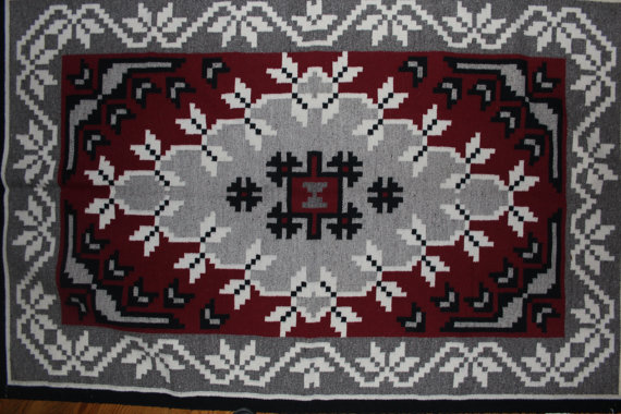 Native Rug : Very Elaborate Native American Navajo Ganado Patterned Weaving by Kathy Nez #82