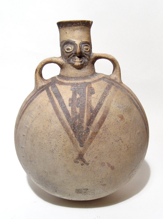 Pre-Columbian Chancay Pottery Canteen Shaped Vessel, C. AD 1000-1450, #825