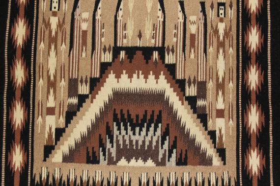 Navajo : Extremely Fiine, Navajo Yei Textile by Sally Simpson #180