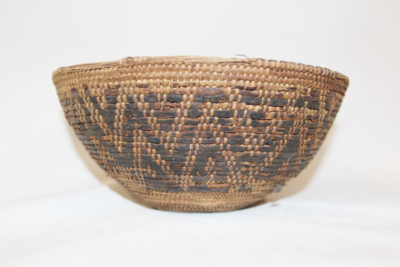 Rare Basket : Vintage Rare Omani Camel Milk Basket, #872