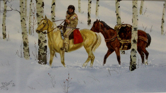 Western Watercolor : Ron Stewart Listed Western Artist, Ron Stewart