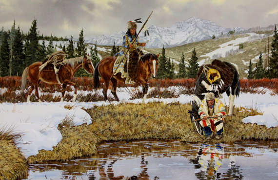 Western : Ron Stewart Western Artist, Water Color,