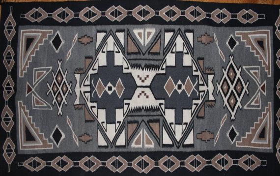 Navajo Rug : Extraordinary Native American Navajo Teec Nos Pos Area Rug #94