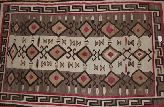 Native American Rug : Navajo Elaborate Teec Nos Pos Rug #101