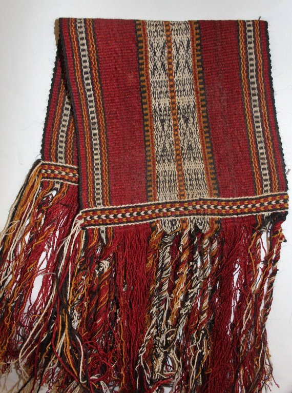 Table Runner : Vintage Handmade Omani Back Strap Weaving Table Runner, #874