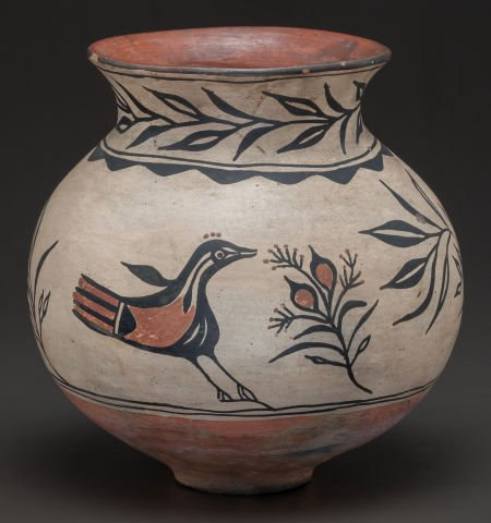 Native American Indian Santo Domingo Polychrome Pottery Jar, C. 1910, #795