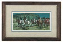 """Western Artist, Austin Deuel, (American, B 1939-),"""" Wai Taica"""", Watercolor on Paper"""