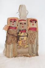 Primitive Dolls : Small Chancay Peruvian Funerary Dolls (Set of 3)