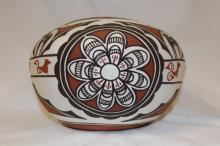 Zuni : Native American Zuni Pottery Bowl, by Claudine Haloo
