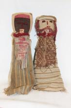 Peruvian Dolls : Medium Chancay Peruvian Funerary Dolls (Set of 2)