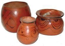 Maricopa Jar, Native American Pottery, Pueblo Pottery, Southwestern Clay Pot, Native American Maricopa Pot, Black on Red Pottery