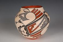 Acoma Pottery Olla Signed by L. A. Chino
