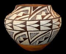 Vintage Pottery : Vintage Acoma Polychhrome Pottery