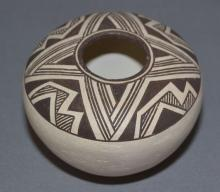 Acoma Pottery : Very Good Acoma Pottery Seed Jar by Lucy Lewis