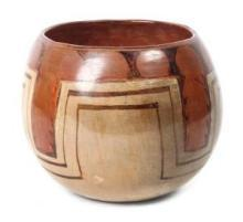 Native American Maricopa Pottery Vase, Ca 1930