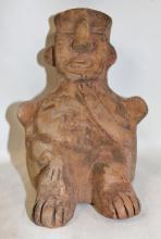 Effigy : Very Nice Tiwanaku Clay Effigy In The Shape of a Man From Bolivia