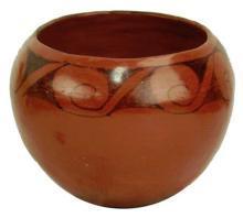 Native American, Maricopa Pottery Bowl, by Evelyn Yarmata, Ca, Mid 1900's