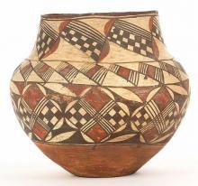 Antique : Antique Acoma Polychrome Olla #210