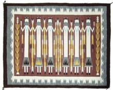 Navajo Yei weaving, by Zounie Sam, Ca 1980's