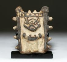 Pre-Colombian, Chancay,Bichrome Rattle, Human Form, modern day Peru, ca. 1000 to 1470 CE.
